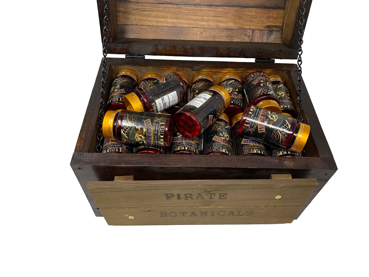 Full Pirate Botanicals Display Chest
