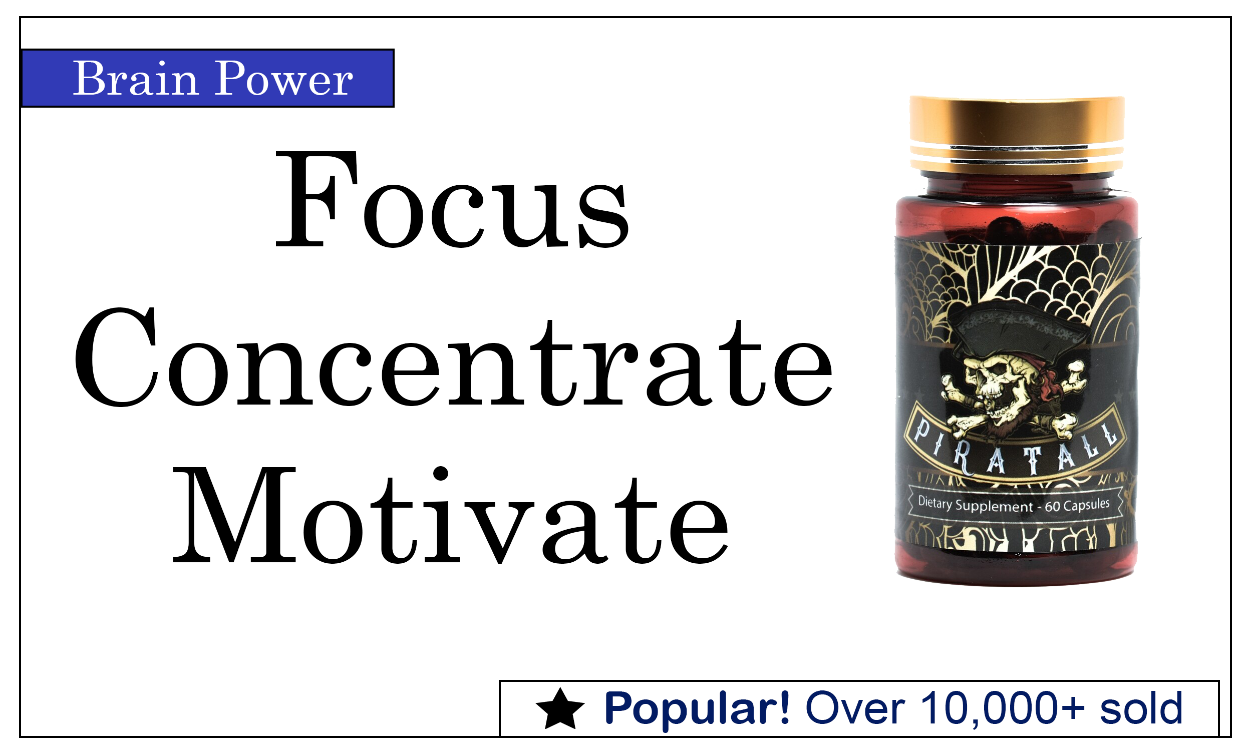 Piratall - Nootropic Supplement for Motivation and Energy